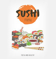 beautiful template for restaurant menu of japanese vector image vector image
