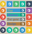 Billiards icon sign Set of twenty colored flat vector image