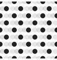 black faded circles pattern on white background vector image vector image