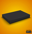 black wrap box package vector image vector image