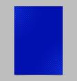 blue halftone dot pattern flyer template vector image vector image