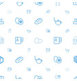breakfast icons pattern seamless white background vector image vector image