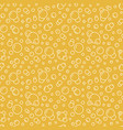 bubbles seamless pattern with flat line vector image vector image