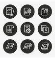 business report icon set vector image