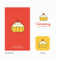 cake company logo app icon and splash page design vector image vector image
