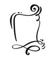 calligraphy cartoon quote speech bubble icon hand vector image vector image