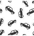 car icon seamless pattern background automobile vector image vector image