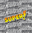 cartoon comic text super vector image vector image