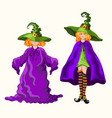 cartoon young witches isolated on the white vector image vector image