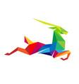 creative abstract colorful gazelle logo vector image vector image