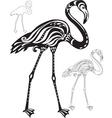 Decorative flamingo vector image vector image