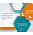 Design - Hexagons macro Background vector image vector image