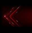 digital technology futuristic abstract red vector image