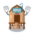 diving chiken coop isolated on a mascot vector image vector image