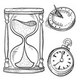 Doodle time hourglass pocketwatch clock sundial