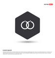 earrings pair icon vector image