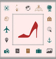 elegant women shoe elements for your design vector image
