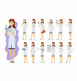 female doctor - cartoon people character vector image vector image