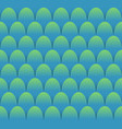 fish scales seamless background in blue and green vector image
