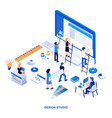 flat color modern isometric design - design vector image