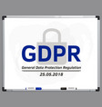 general data protection regulation vector image vector image