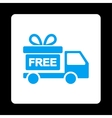 Gift delivery icon vector image