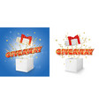 giveaway gift box concept for banner vector image vector image