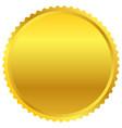golden starburst badge shape isolated on white vector image