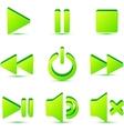 Green plastic navigation symbols set vector image vector image