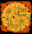 Halloween with net pattern vector image