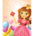 Happy Birthday Princess greeting card vector image vector image