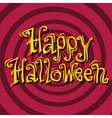 Happy Halloween inscription on retro background vector image vector image