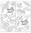 Healthy and Hearty Food Organic restaurant banner vector image vector image