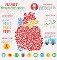 heart infographic with symbols text and graphic vector image vector image