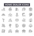 home dealer line icons for web and mobile design