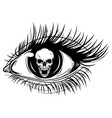 human eye a girl with circular skull iris vector image
