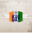 indian independence day tag with shadow vector image