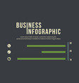 infographic icon and graph business concept vector image vector image