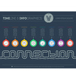 Infographic timeline about connection with 8 parts vector image vector image