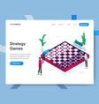 landing page template strategy games isometric vector image