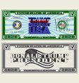 leaflet dedicated to presidential elections trump vector image vector image