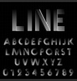 line design font template vector image vector image