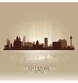 Liverpool England skyline city silhouette vector image vector image