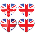 love uk vector image