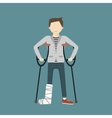 Man with Broken Leg vector image