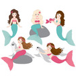 Mermaids Set vector image vector image