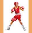 One caucasian exercising boxing in silhouette