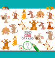 one of a kind game with cartoon dogs vector image vector image