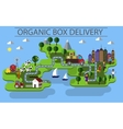 organic box delivery vector image vector image