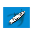 Passenger Cargo Ship Aerial View vector image vector image